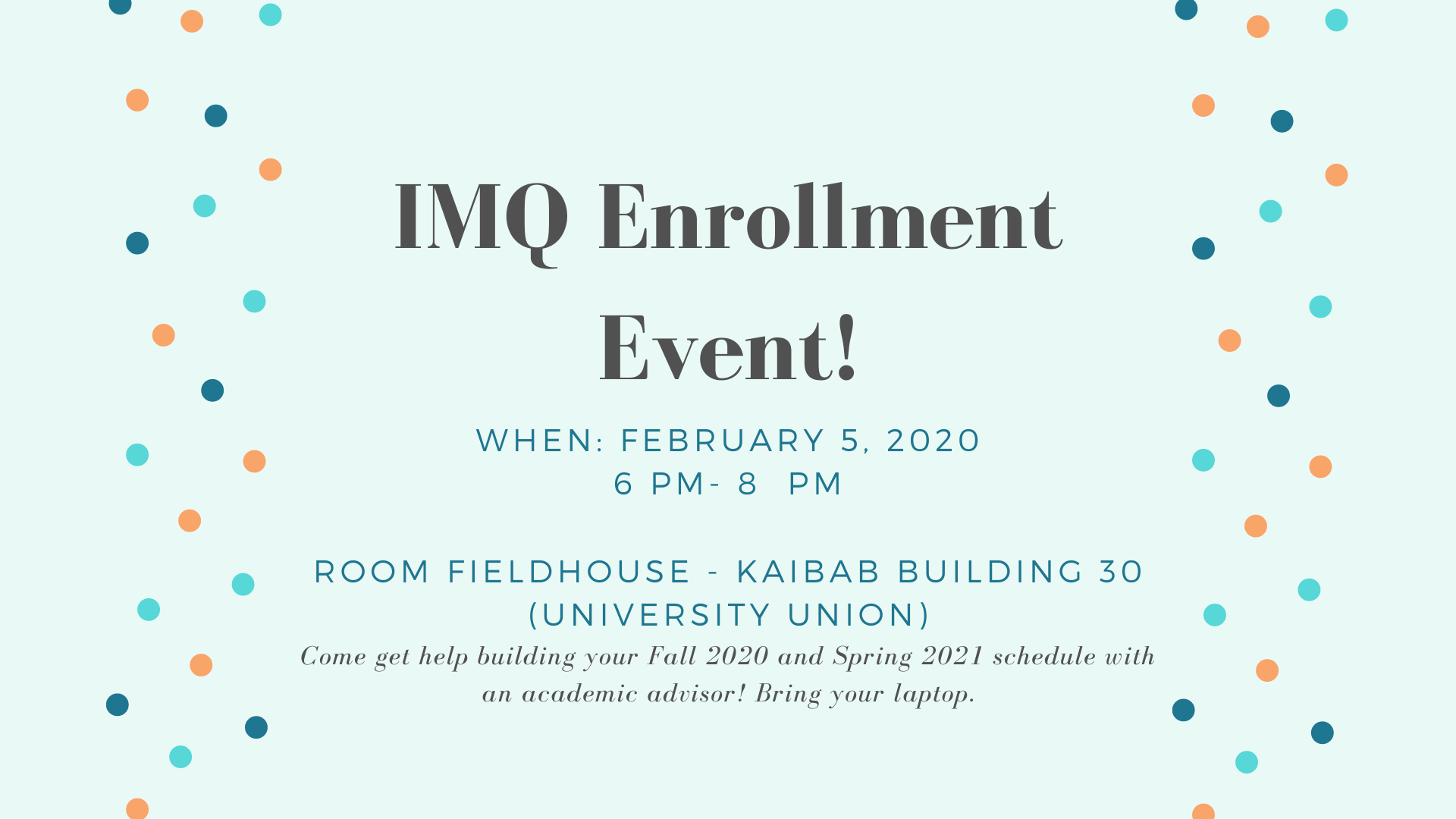 IMQ Enrollment Event