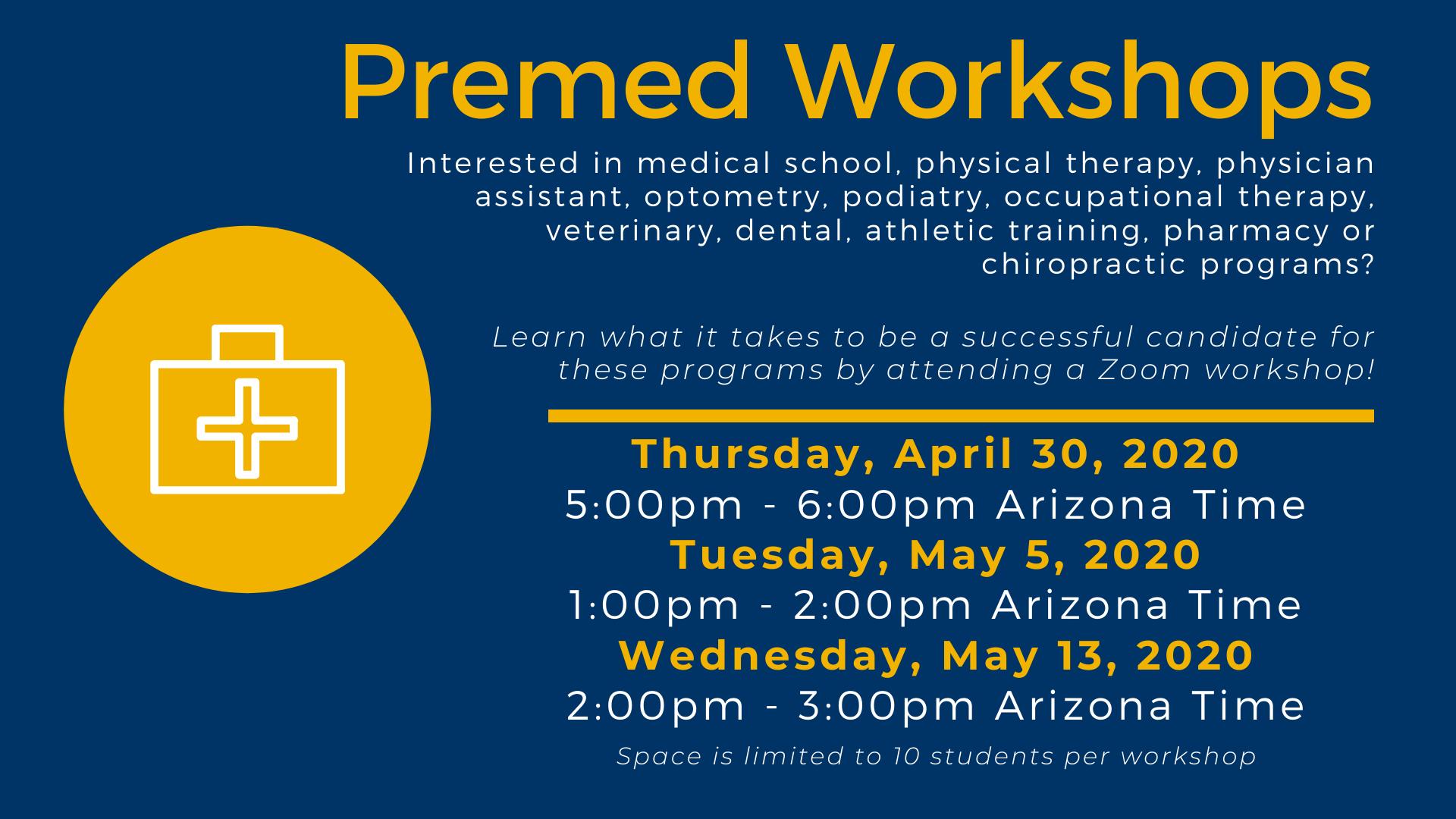 Premed Workshops 4.22.2020