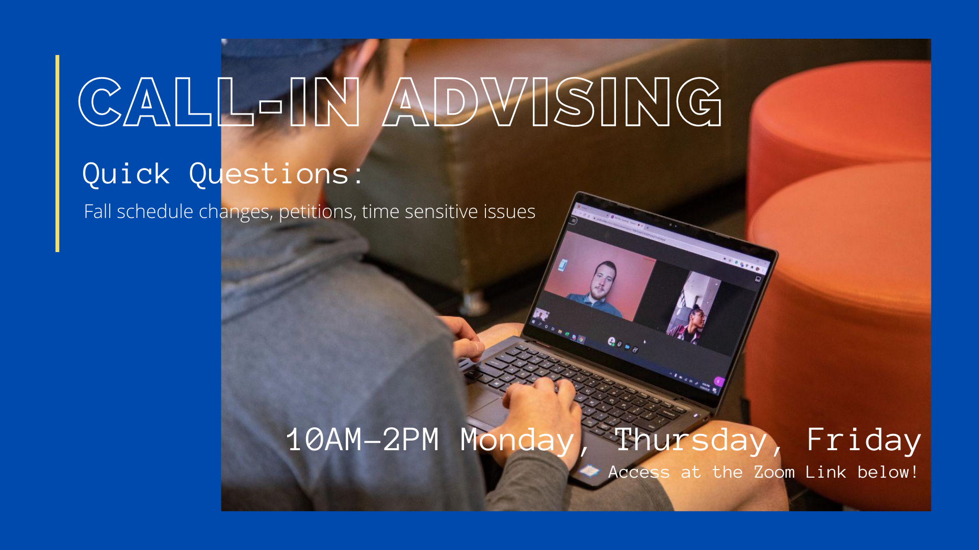Call In Advising for homepage