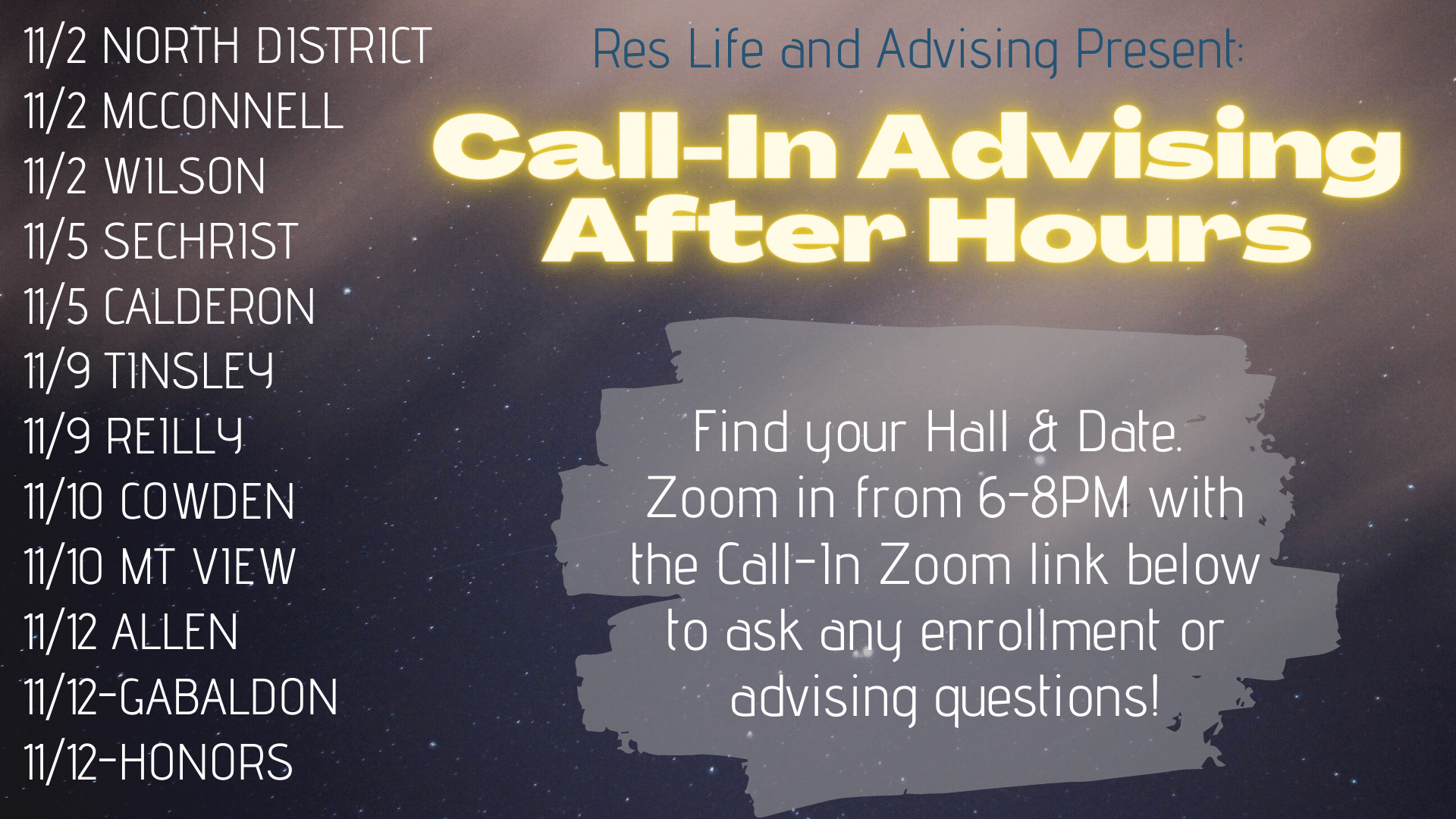 Call-In Advising After Hours