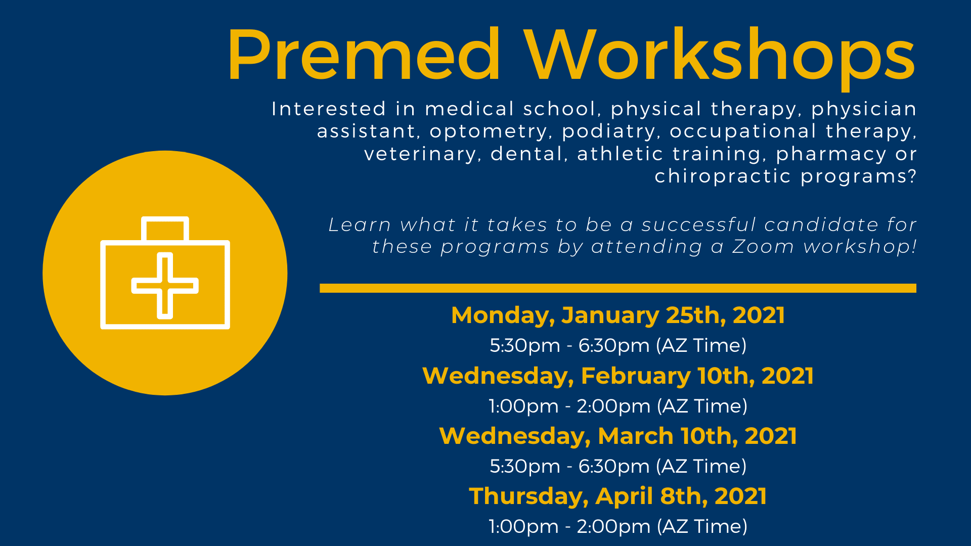 Premed Workshops 01.14.2021