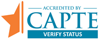 Accredited By CAPTE verify status