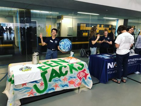 green jacks and sustainable ambassadors tabling
