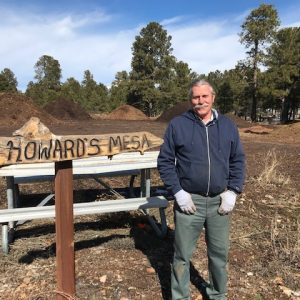 Howard at Howard's Mesa sign