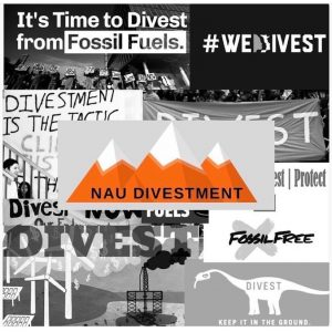 NAU divestment club logo
