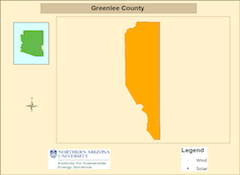 Greenlee county map