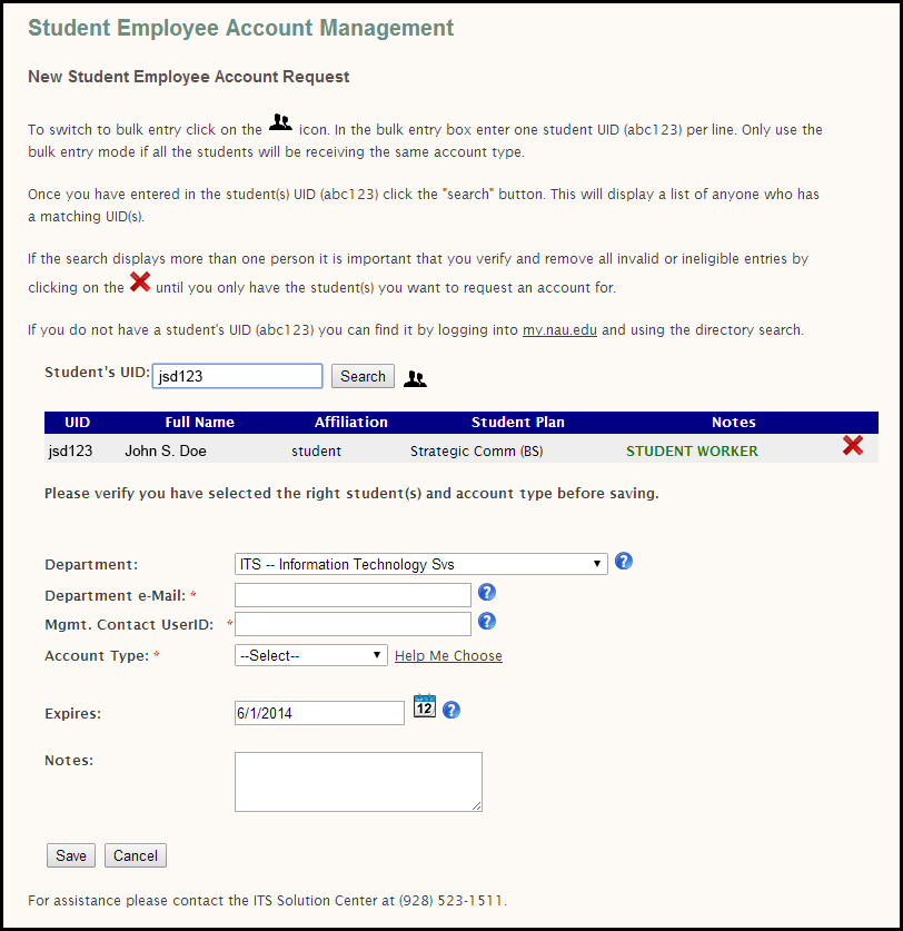 Student Employee Account Management (SEAM) Guide