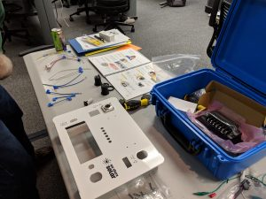 Solar suitcase unpacked before being built