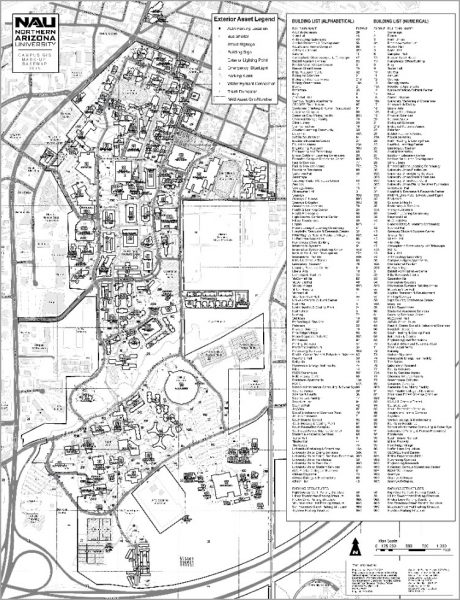 Campus map - black and white