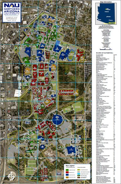 Campus map - aerial with GIS overlay