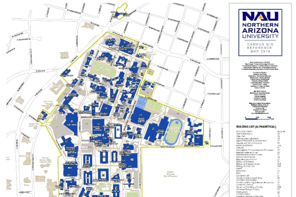 u of az campus map Maps Northern Arizona University