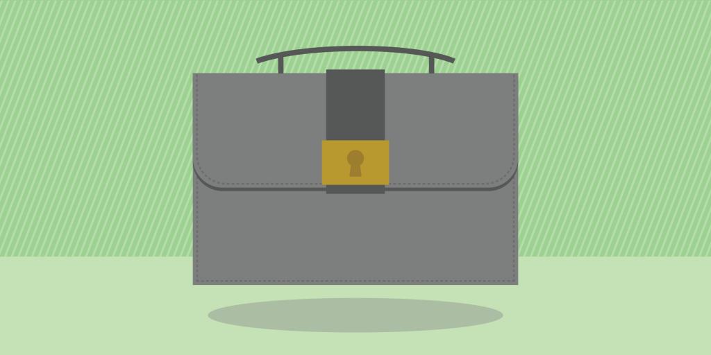 Graphic of a grey briefcase.