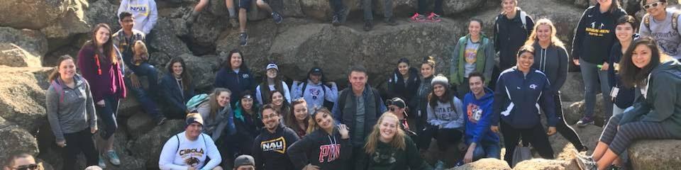 peer jacks mentors and mentees at the lava tubes 2017