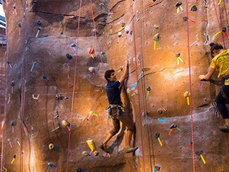 NAU wall climbing