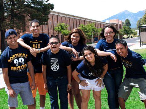NAU students group photo