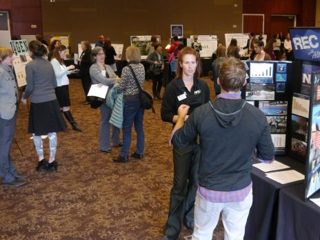 presenters and attendees at NAU's assessment fair