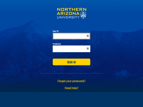 NAU students sign into CAS login.