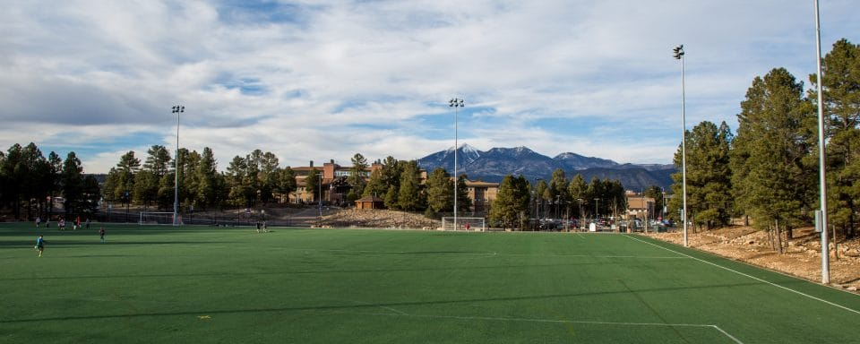 NAU south field of recreational services