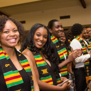 NAU students celebrate at the African-American Convocation.