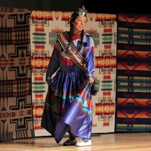 Miss Indian NAU dances at the NAU Native American Convocation.