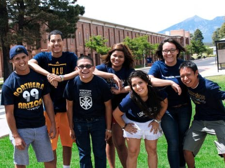 Group of NAU students posing.