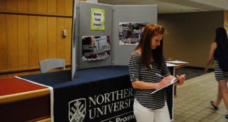 University vendor booth.