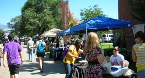Vendor booth on NAU campus.