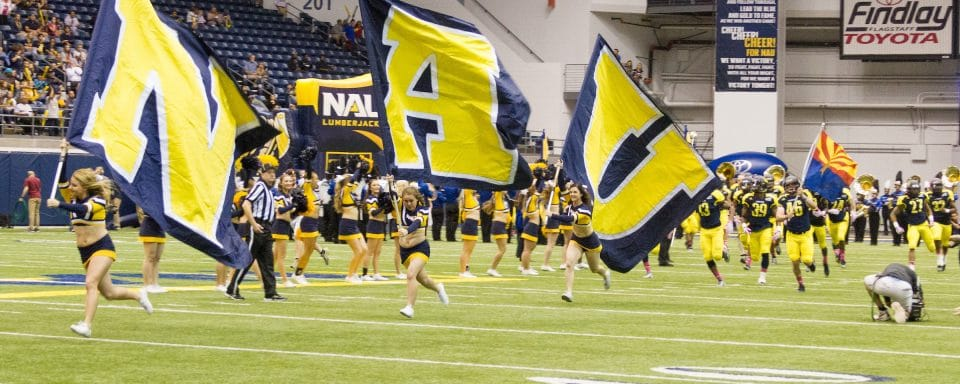 NAU homecoming game in the skydome.