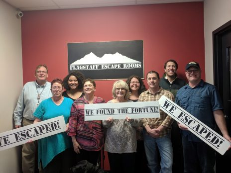 photo of DR staff after completing the Flagstaff Escape Room
