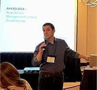 photo of Jamie Axelrod presenting at the AHEAD conference