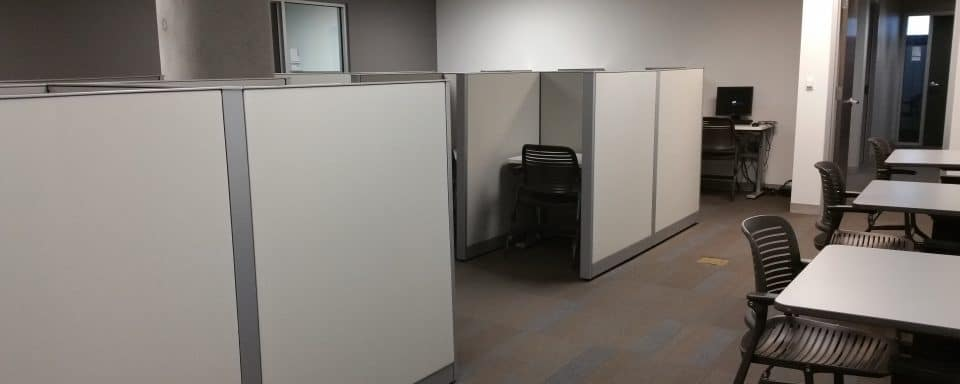 image of the main testing room at Disability Resources