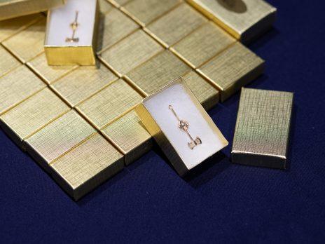 Gold axe pins
