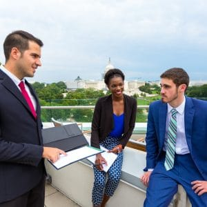 washington center interns with capitol