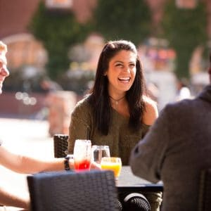 Students hanging out in downtown flagstaff