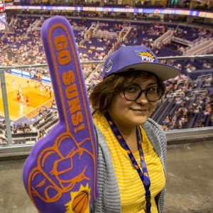 student at suns game