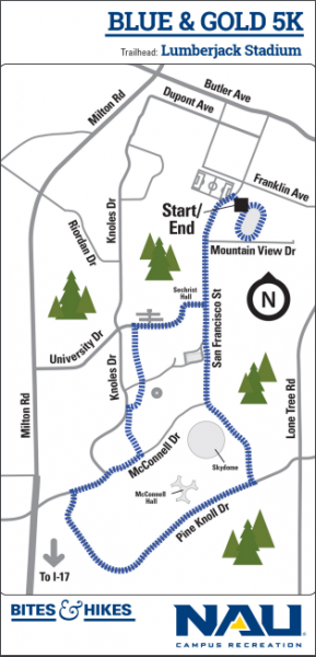 Blue and Gold 5k Map