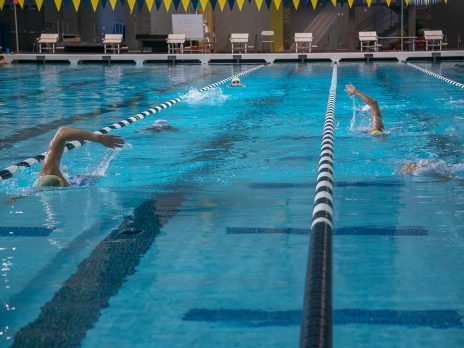 wac pool people swimming laps