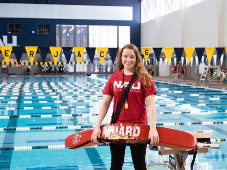 WAC pool women lifeguard
