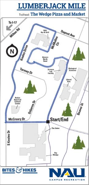 Lumberjack mile map