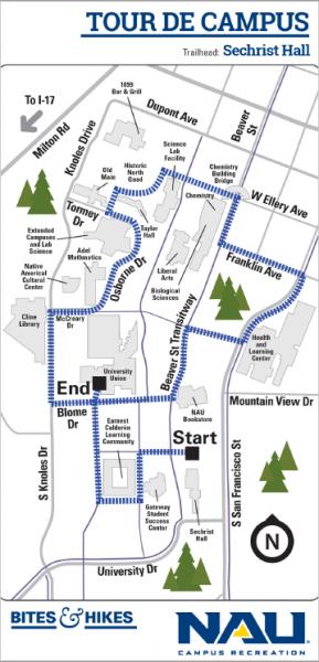 Tour de Campus map