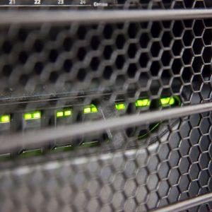 Back of computer server