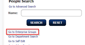 screenshot of enterprise groups link