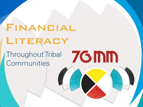 Graphical representation of financial literacy featuring the Seven Generation Money Management logo
