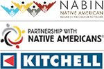 Logos of Partners: NABIN, Partnership with Native Americans, and Kitchell