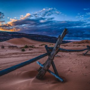 sunset over the desert near nau in Flagstaff