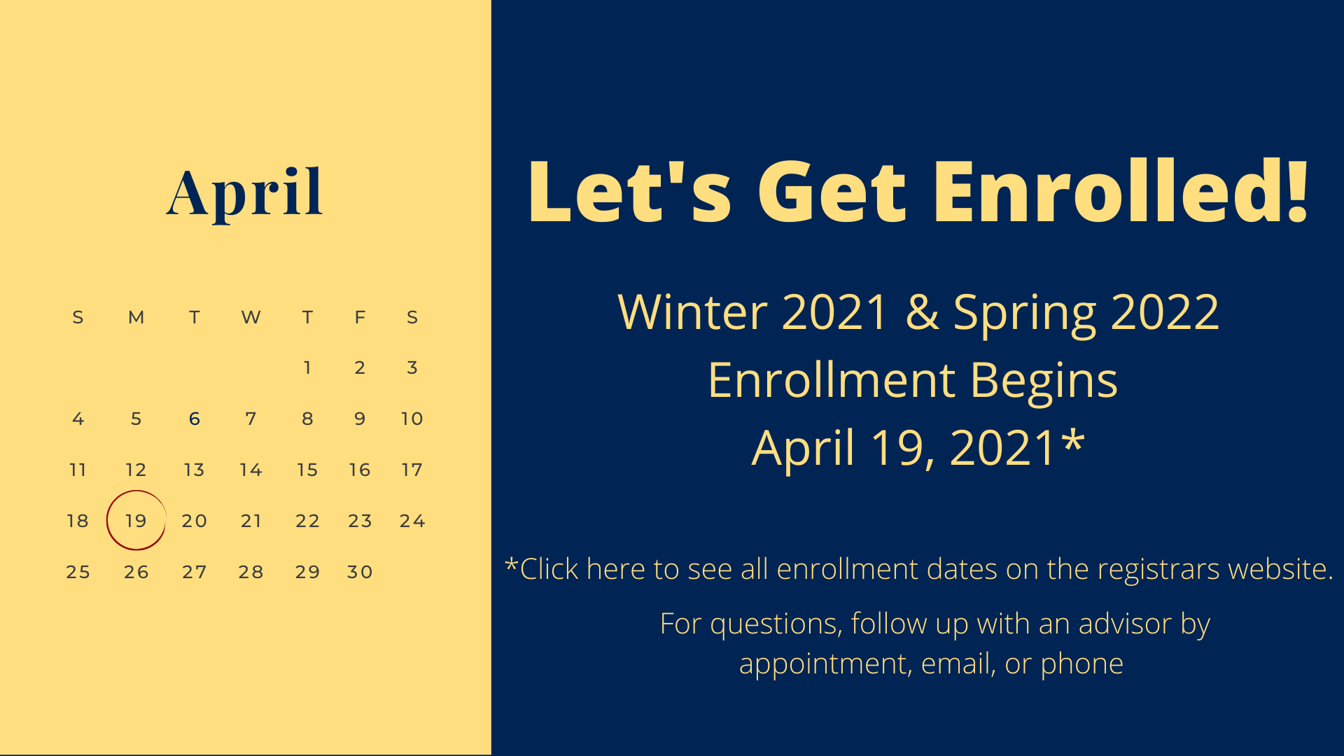 UA - Winter & Summer Enrollment