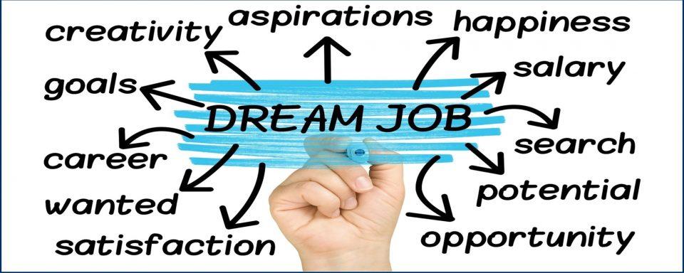 Hand Highlighting Dream Job