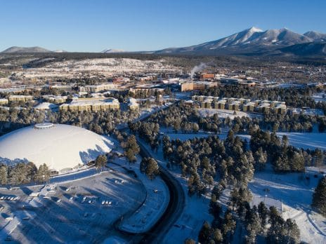 NAU campus winter