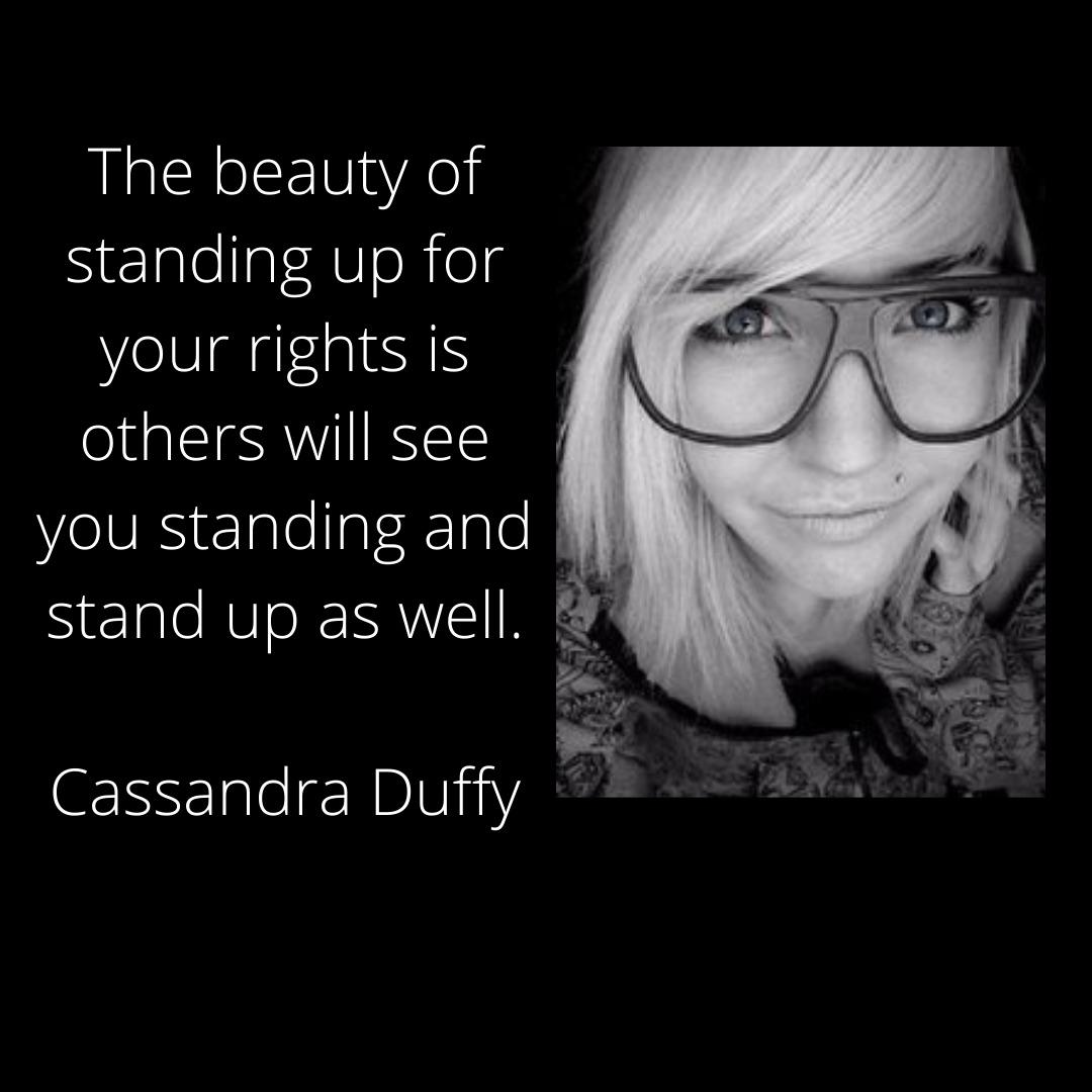 Cassandra Duffy Pride Quote