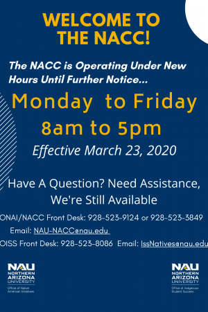 Updated NACC Hours and Information